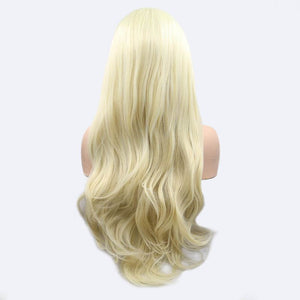 ITYMAHAIR Blonde Wavy Long Synthetic Lace Front Wig-IALONG28-04