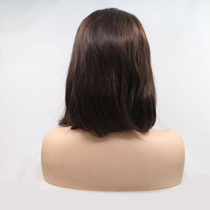 ITYMAHAIR Brown Straight Bob Synthetic Lace Front Wig-IABOB30-03