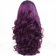 Load image into Gallery viewer, ITYMAHAIR Purple Big Wavy Long Synthetic Lace Front Wig-IALONG20-03