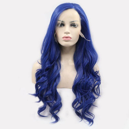 ITYMAHAIR Royal Blue Wavy Long Synthetic Lace Front Wig-IALONG23-01