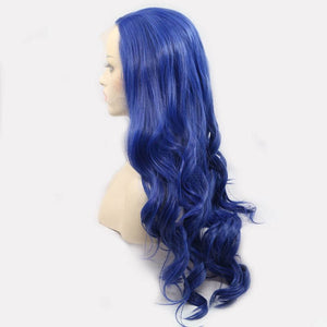 ITYMAHAIR Royal Blue Wavy Long Synthetic Lace Front Wig-IALONG23-02