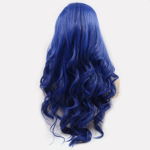 ITYMAHAIR Royal Blue Wavy Long Synthetic Lace Front Wig-IALONG23-03