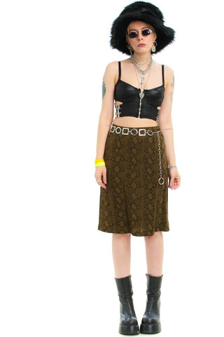 Vintage 90's Serpent Skirt - XS/S/M