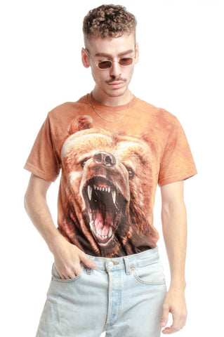 Not-Quite-Vintage 00's Bear Face Tee - S/M