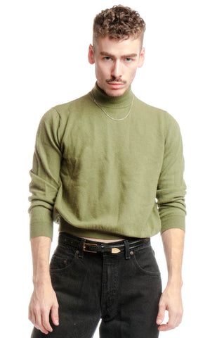Vintage 80's Mock Turtle Neck - S/M
