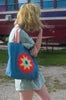 IDAHO Vintage 90's Handmade Rainbow Burst Bag