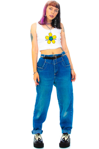 Vintage 80's Jewel Tone Mom Jeans - L