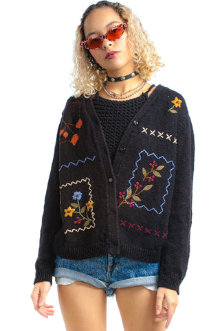 Vintage 90's Nature Gurl Cardigan - One Size Fits Many
