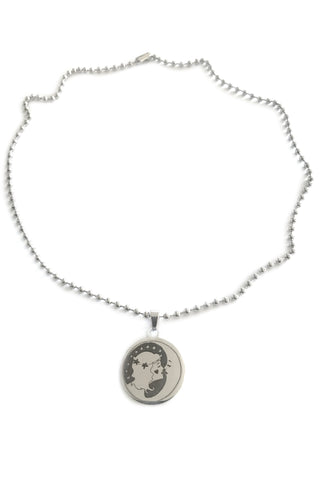 Kiss Them For Me Ball Chain Charm Necklace