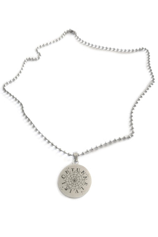 Spiral Web Ball Chain Charm Necklace