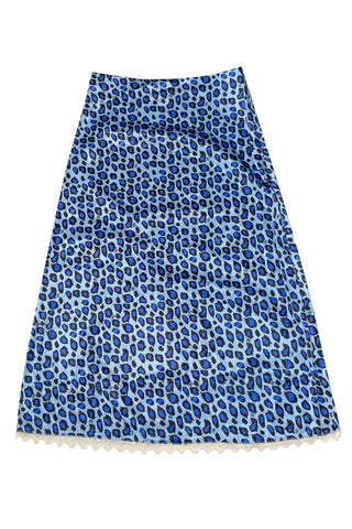 Mel Blue Cheetah Midi Skirt