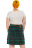 Vintage Y2K Wool-Blend Plaid Mini Skirt - XL