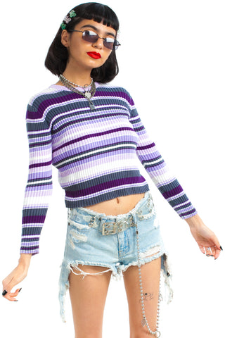 Vintage 90's Sugar Plum Knit Top - One Size Fits Many