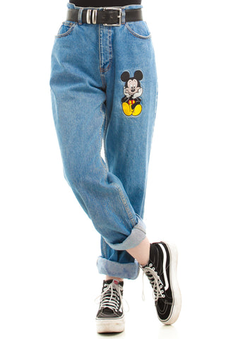 Vintage 90's Authentic Disney Mickey Mouse Mom Jeans - L