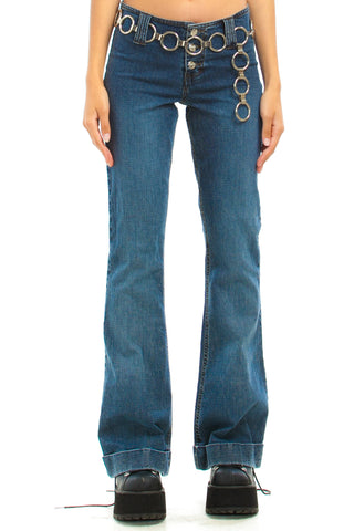 Vintage Y2K Mudd Stretch Denim Bell Bottoms - S
