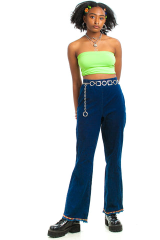 Vintage 90's Does 70's Hippie Trim Flares - M/L