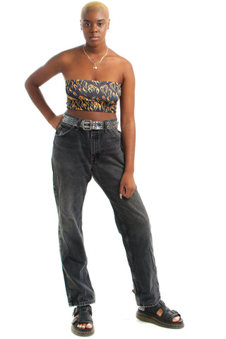 Vintage 90's Lee Distressed Black Denim Mom Jeans - L