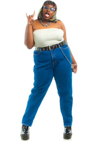 Vintage 90's Lee Paperbag Mom Jeans - XL/2X