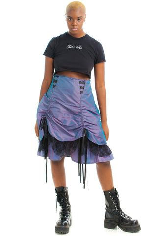 Vintage Y2K That Goth Binch Extra Skirt - L