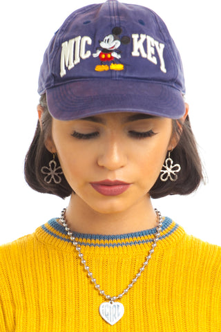 Vintage 90's Distressed Mickey Hat