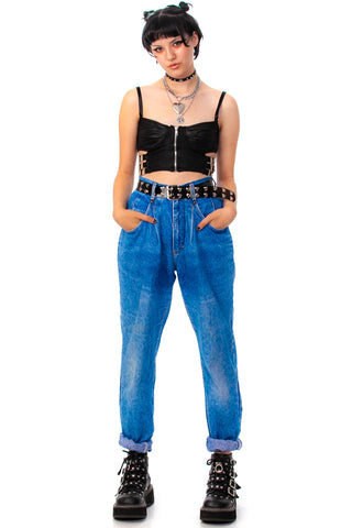 Vintage 80's Lee Pleated Mom Jeans - S