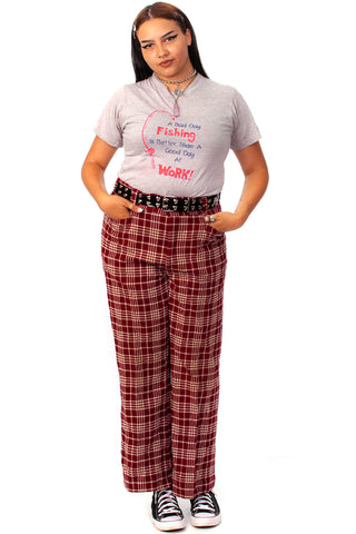 Vintage 70's Cran-Apple Plaid Trousers - XL