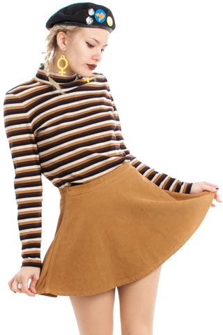 Vintage 90's Oatmeal Cookie Turtleneck - XS/S/M