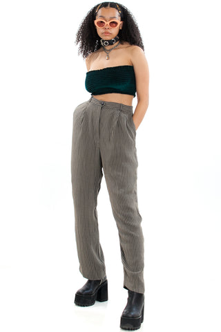 Vintage 80's 2 Good Striped Trousers - M/L