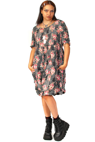 Vintage 90's More Jazz Floral Easy Dress - L/XL/2X
