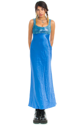 Vintage 90's Ice Princess Maxi Dress - XS