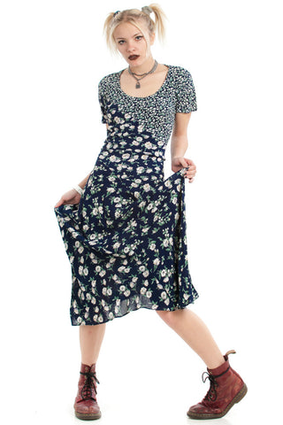 Vintage 90's Floral Mix Perfection Dress - XS/S/M