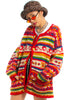 Vintage 90's Rainbow Stripe Sweater - One Size Fits Many