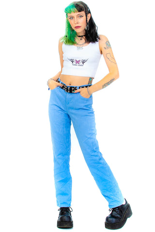 Vintage 90's Powder Blue Mom Jeans - M/L