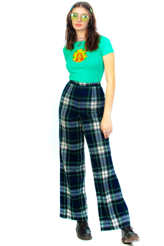 Vintage 70's Pendleton Wool Plaid Pants - L