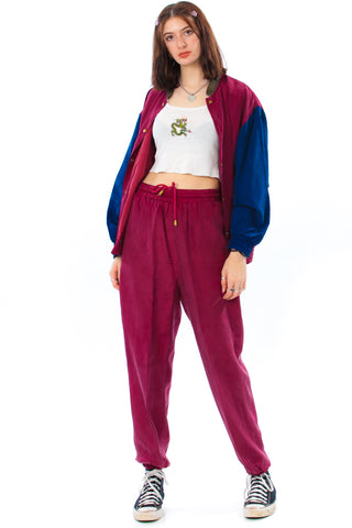 Vintage 90's Silk Jogger Suit - One Size Fits Many