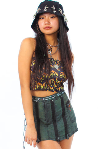 Vintage 90's Zip It! Mini Skirt - XS