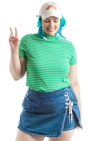 Vintage 90's I'm a Marsha Striped Retro Top - XL/2X