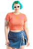 Vintage 90's Cool Kids Striped Crop Top - L/XL/2X