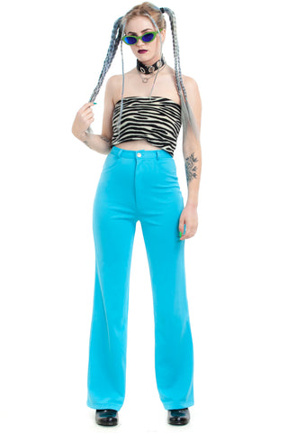 Vintage 70's Robin's Egg Blue Wide-Legged Pants - XS/S