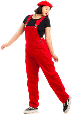 Vintage 90's Red Hot Overalls - S/M/L
