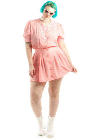Vintage Renewed Pink Lemonade Mini Dress - XL/XXL