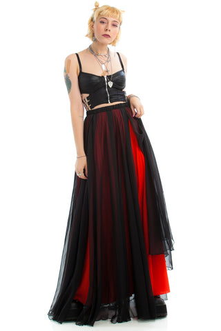 Vintage 90's Blood Moon Maxi Skirt - One Size Fits Many