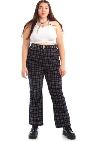 Vintage 90's Deadstock Plaid Corduroy High-Waisted Pants - XL/2X