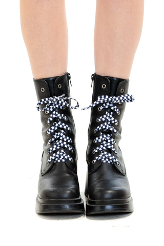 Vintage Y2K Alex Lace Up Boots - US 6