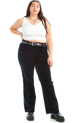 Vintage 90's Pinstripe Velveteen Trousers - XL/2X