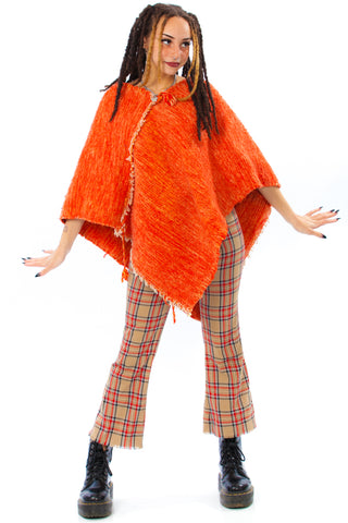 Vintage 70's Tangerine Dream Poncho - One Size Fits Many