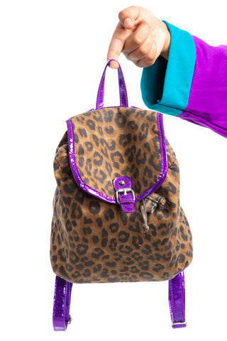 Vintage Y2K Disco Cheetah Mini Backpack