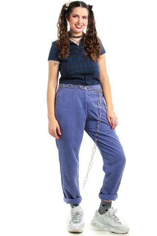 Vintage 80's Cornflower California Trousers - XL