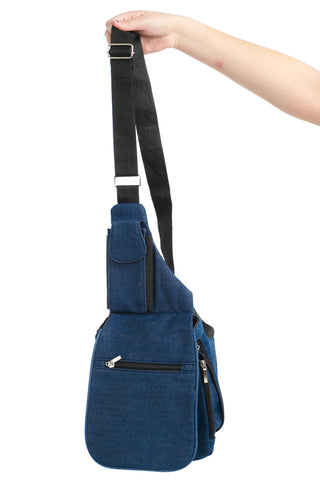 Vintage Y2K Denim Cyber Groove Cross-Body Bag