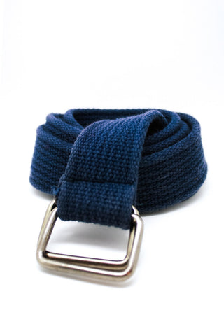 Not-Quite-Vintage Y2K Navy Blue Square-Ring Belt - One Size Fits Many